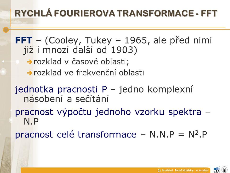 RYCHLÁ FOURIEROVA TRANSFORMACE - FFT