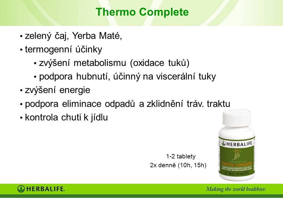 Thermo Complete zelený čaj, Yerba Maté, termogenní účinky