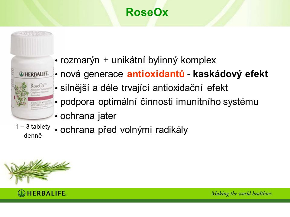 RoseOx rozmarýn + unikátní bylinný komplex