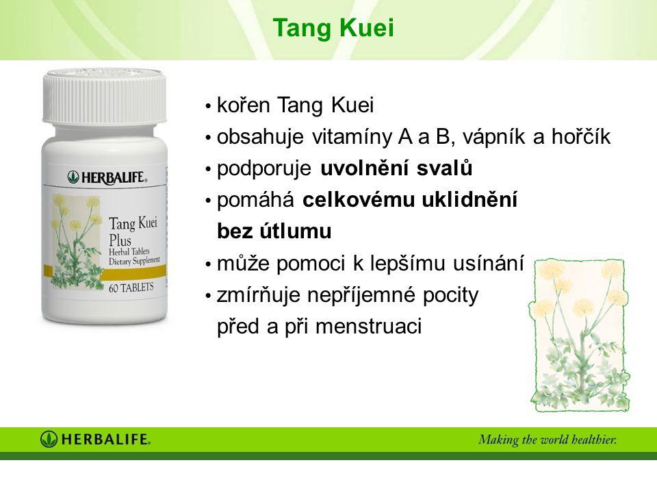 Tang Kuei kořen Tang Kuei obsahuje vitamíny A a B, vápník a hořčík