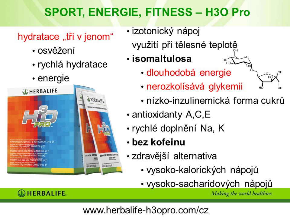 SPORT, ENERGIE, FITNESS – H3O Pro