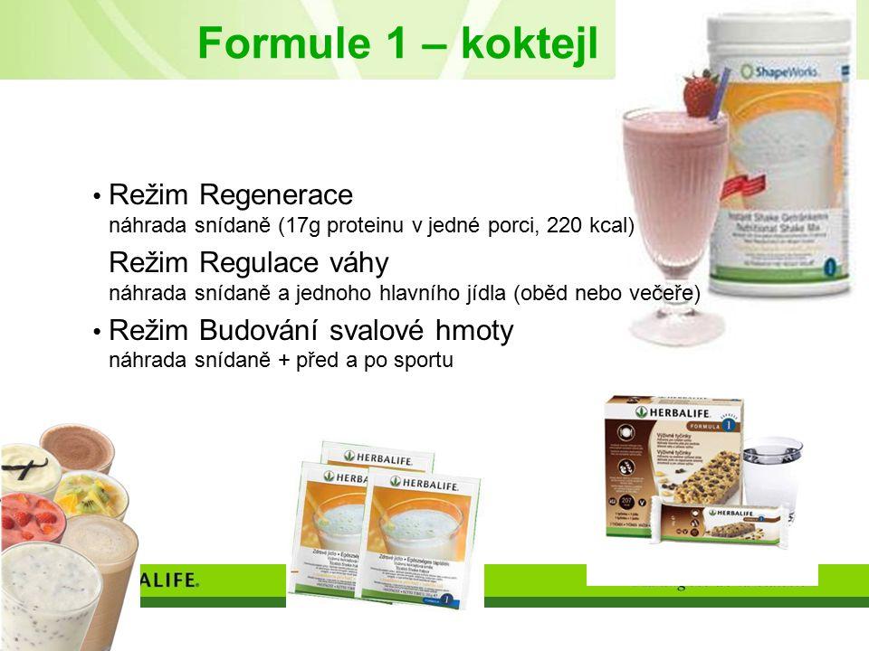Formule 1 – koktejl Režim Regenerace náhrada snídaně (17g proteinu v jedné porci, 220 kcal)