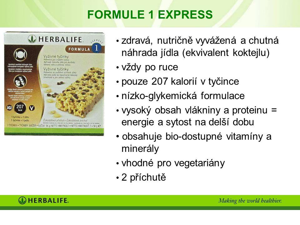 FORMULE 1 EXPRESS zdravá, nutričně vyvážená a chutná náhrada jídla (ekvivalent koktejlu) vždy po ruce.