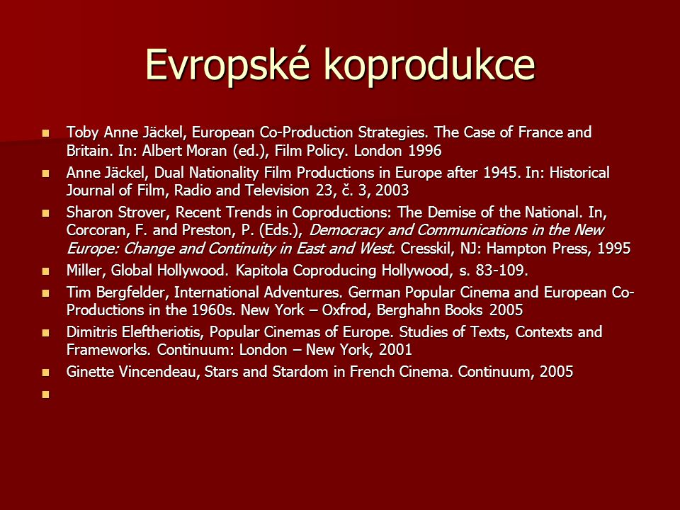 Evropské koprodukce