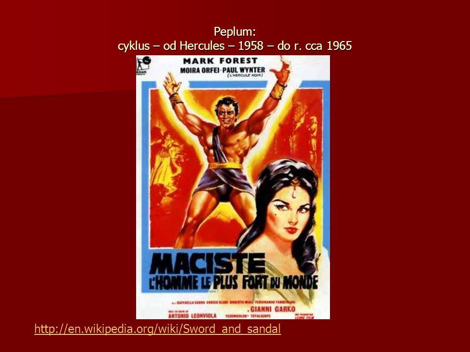Peplum: cyklus – od Hercules – 1958 – do r. cca 1965