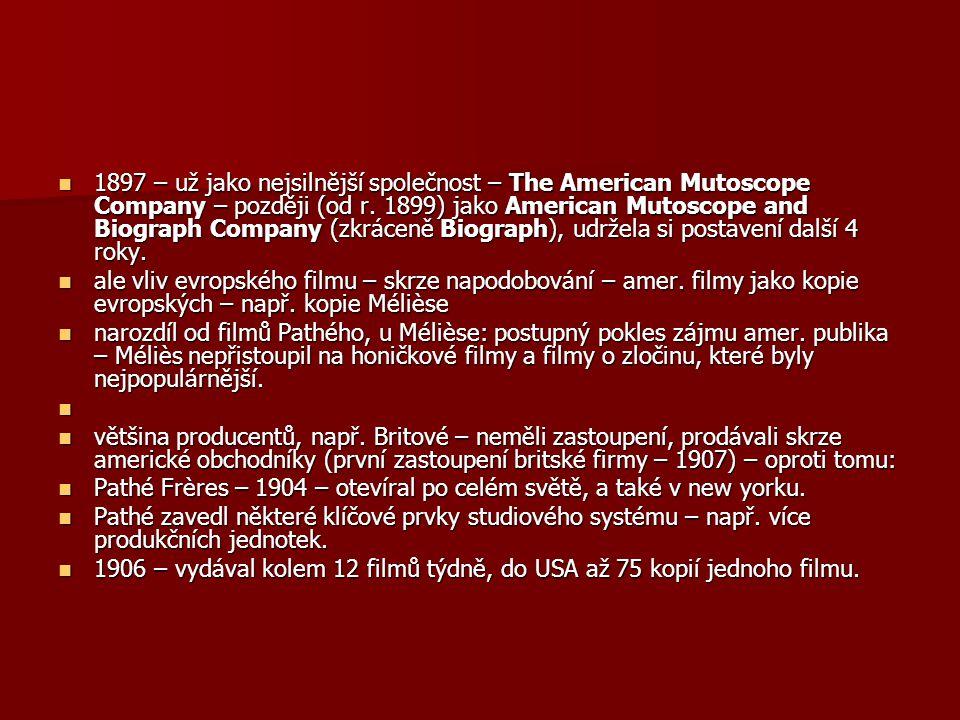 1897 – už jako nejsilnější společnost – The American Mutoscope Company – později (od r. 1899) jako American Mutoscope and Biograph Company (zkráceně Biograph), udržela si postavení další 4 roky.