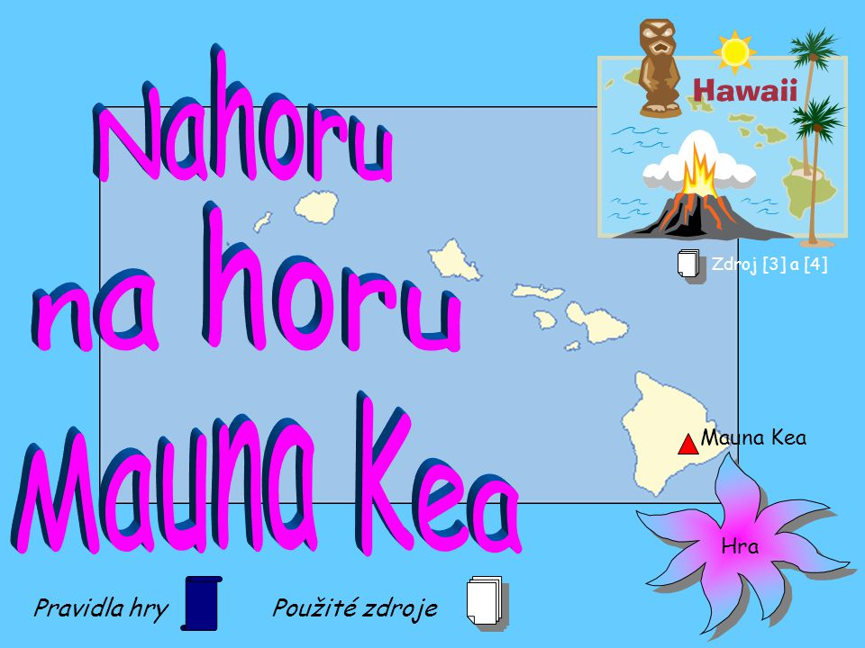 Nahoru na horu Mauna Kea Pravidla hry Použité zdroje Mauna Kea Hra