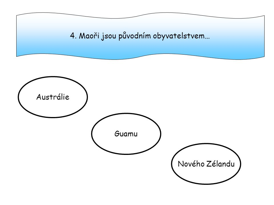 4. Maoři jsou původním obyvatelstvem…