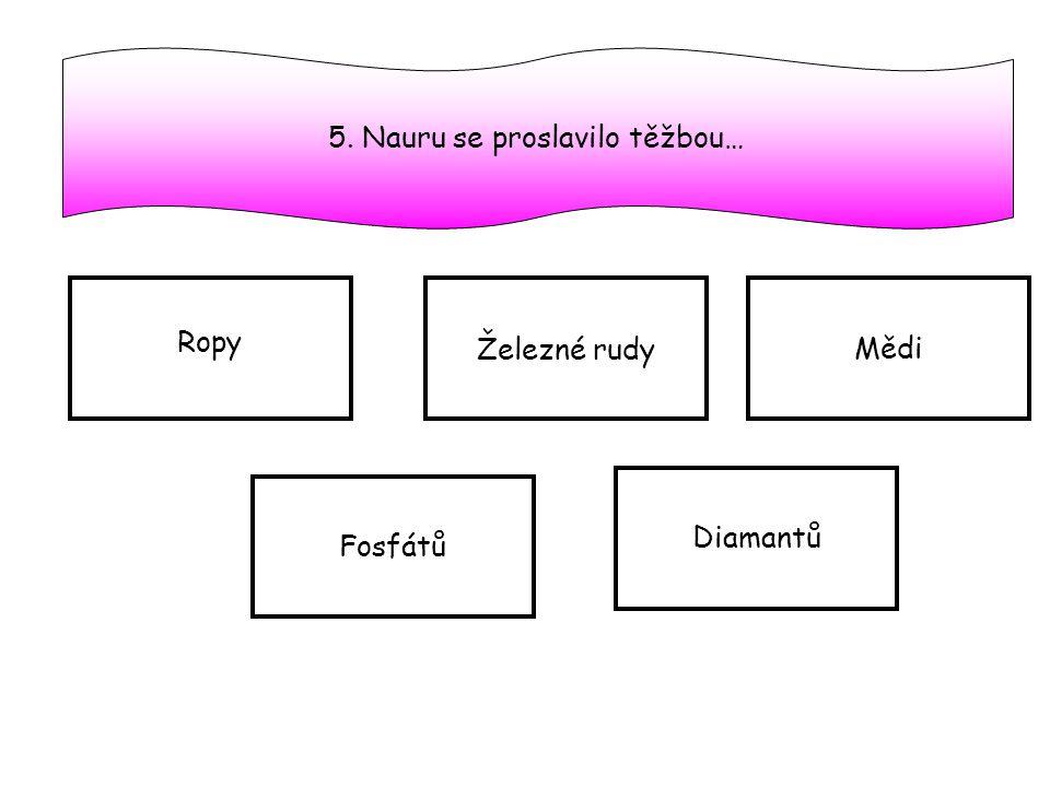 5. Nauru se proslavilo těžbou…