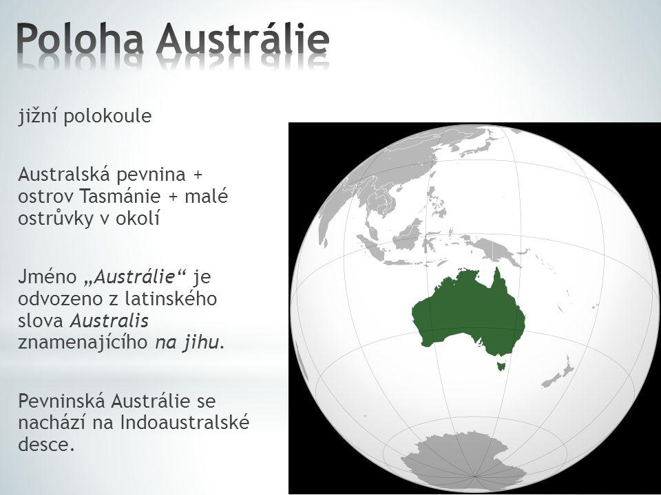 Poloha Austrálie