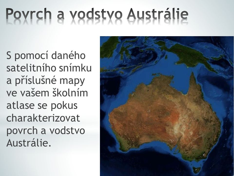 Povrch a vodstvo Austrálie