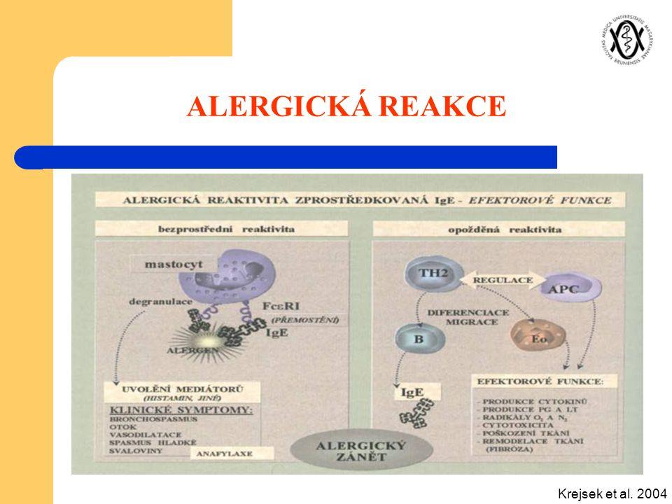 ALERGICKÁ REAKCE Krejsek et al. 2004