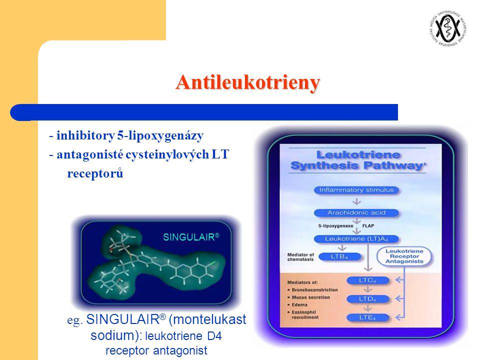 Antileukotrieny - inhibitory 5-lipoxygenázy