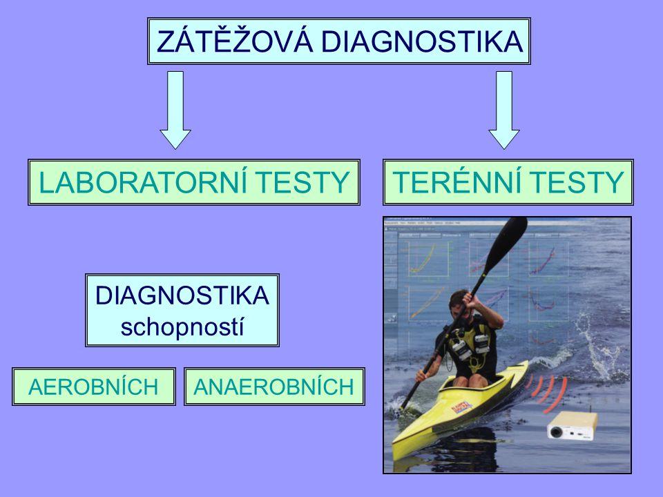 ZÁTĚŽOVÁ DIAGNOSTIKA LABORATORNÍ TESTY TERÉNNÍ TESTY DIAGNOSTIKA
