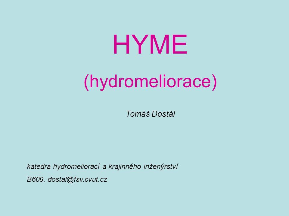 HYME (hydromeliorace) Tomáš Dostál