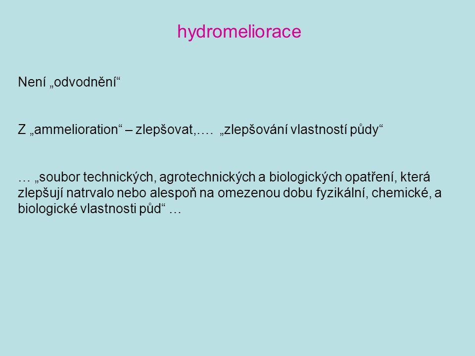 """hydromeliorace Není """"odvodnění"""