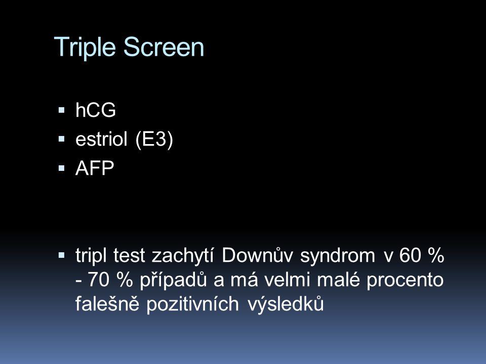 Triple Screen hCG estriol (E3) AFP