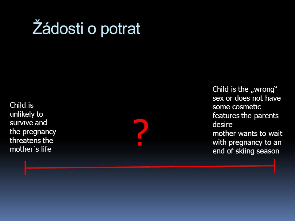 "Žádosti o potrat Child is the ""wrong sex or does not have some cosmetic features the parents desire."