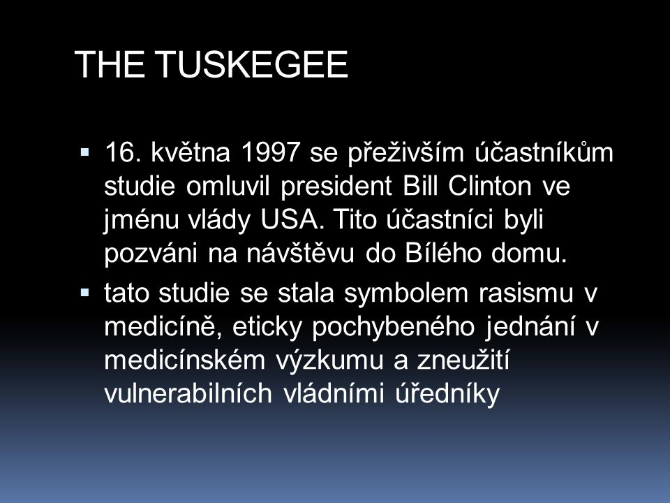 THE TUSKEGEE
