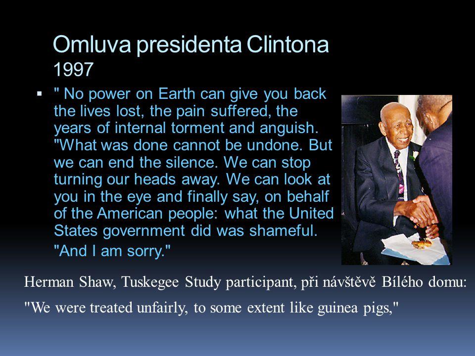 Omluva presidenta Clintona 1997