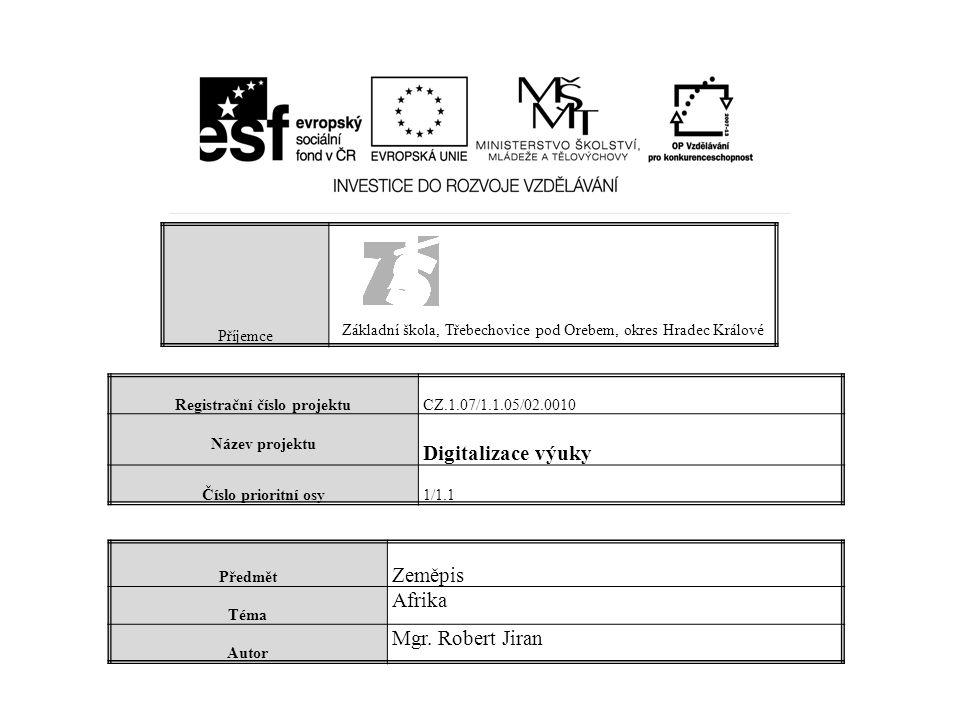 Registrační číslo projektu