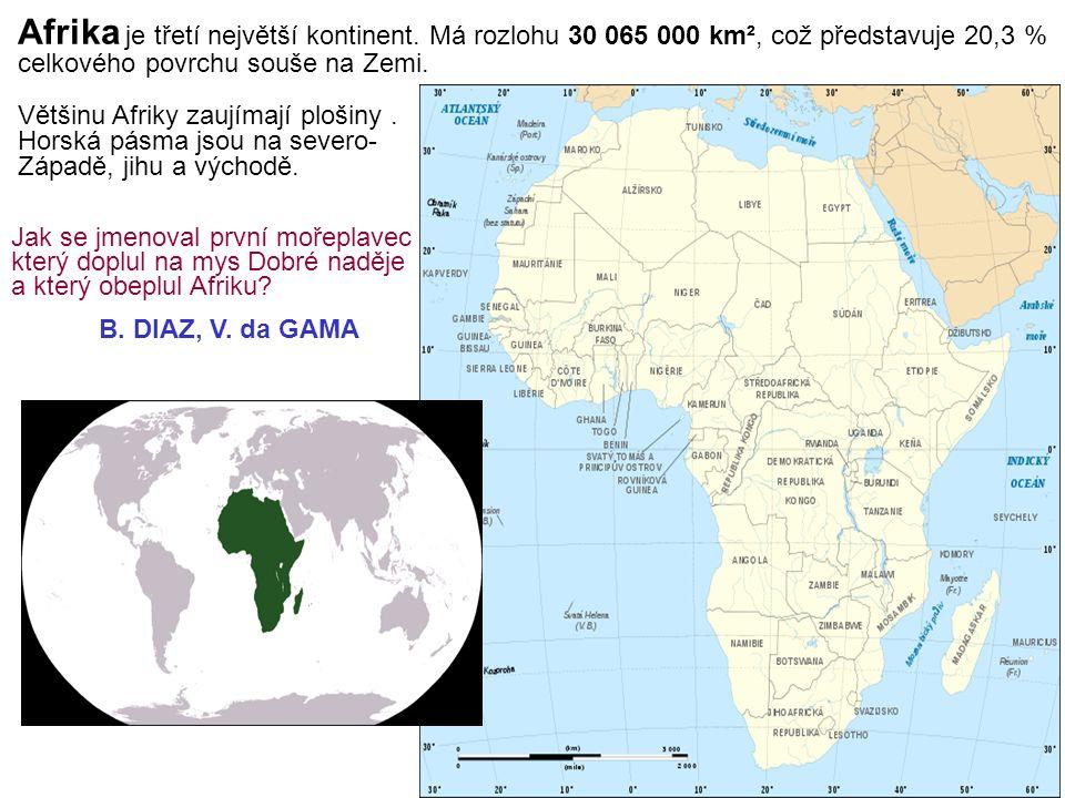 Afrika je třetí největší kontinent