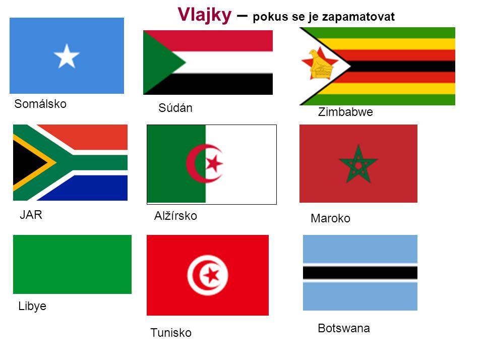 Vlajky – pokus se je zapamatovat