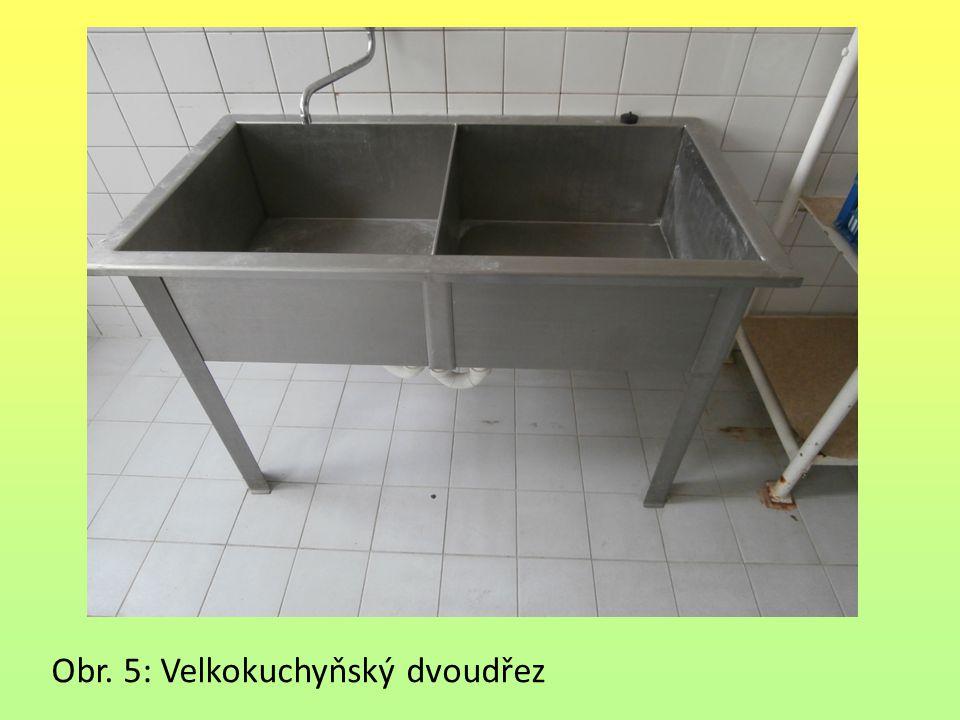 Obr. 5: Velkokuchyňský dvoudřez