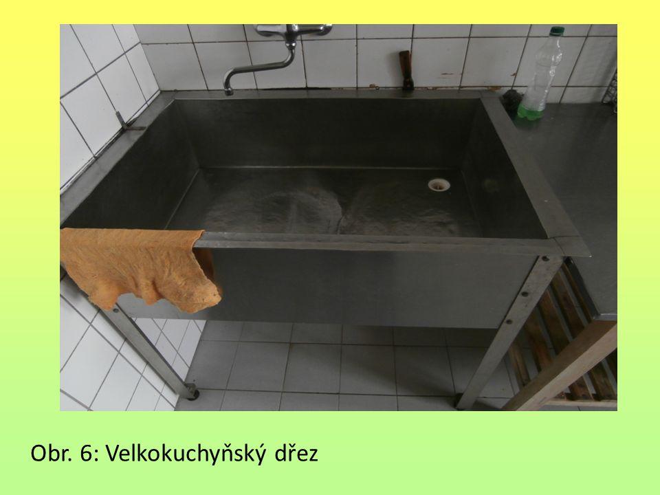 Obr. 6: Velkokuchyňský dřez