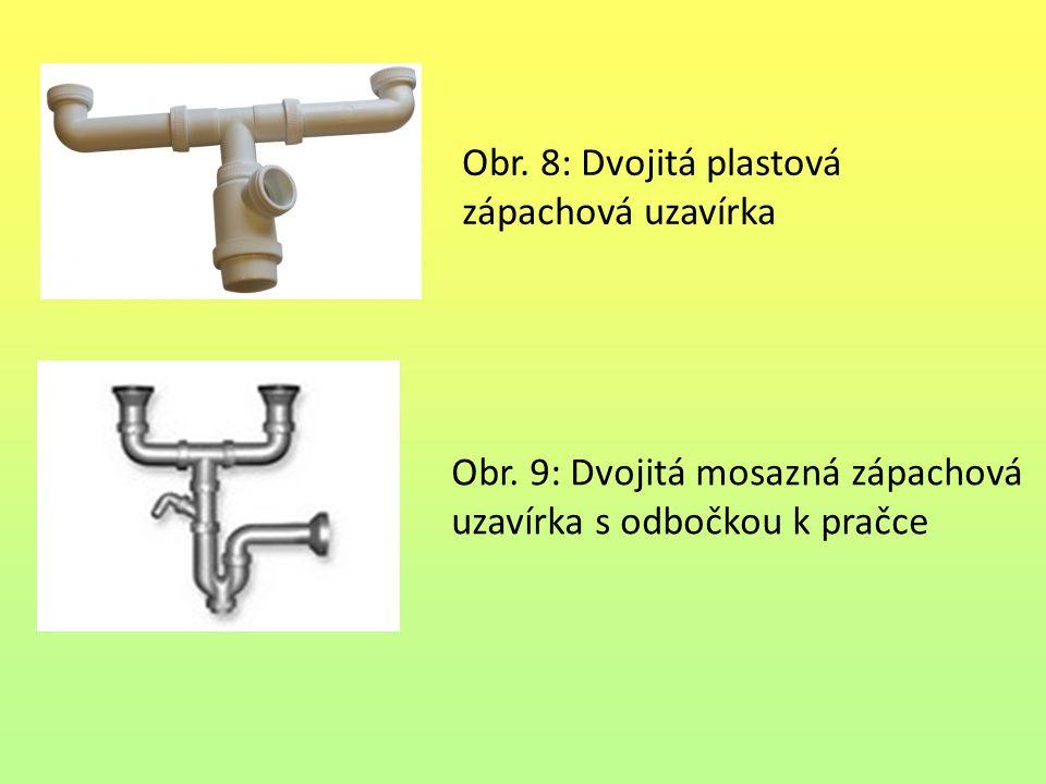 Obr. 8: Dvojitá plastová zápachová uzavírka