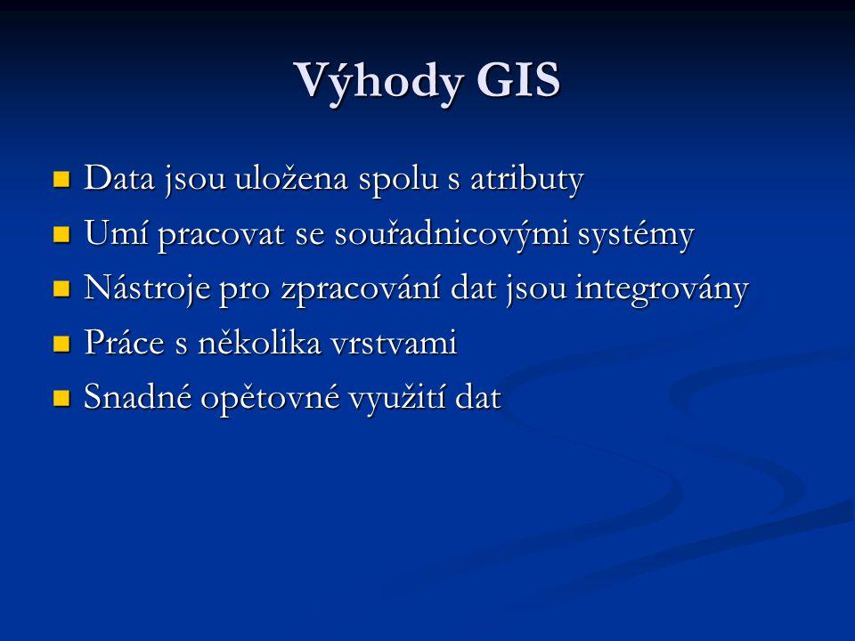 Výhody GIS Data jsou uložena spolu s atributy