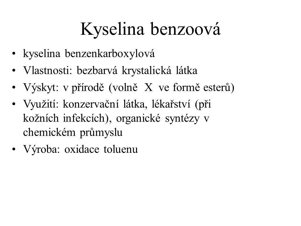 Kyselina benzoová kyselina benzenkarboxylová