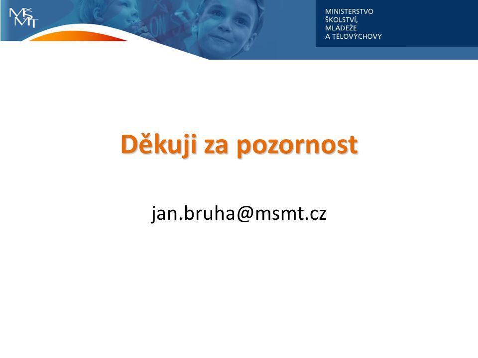 Děkuji za pozornost jan.bruha@msmt.cz