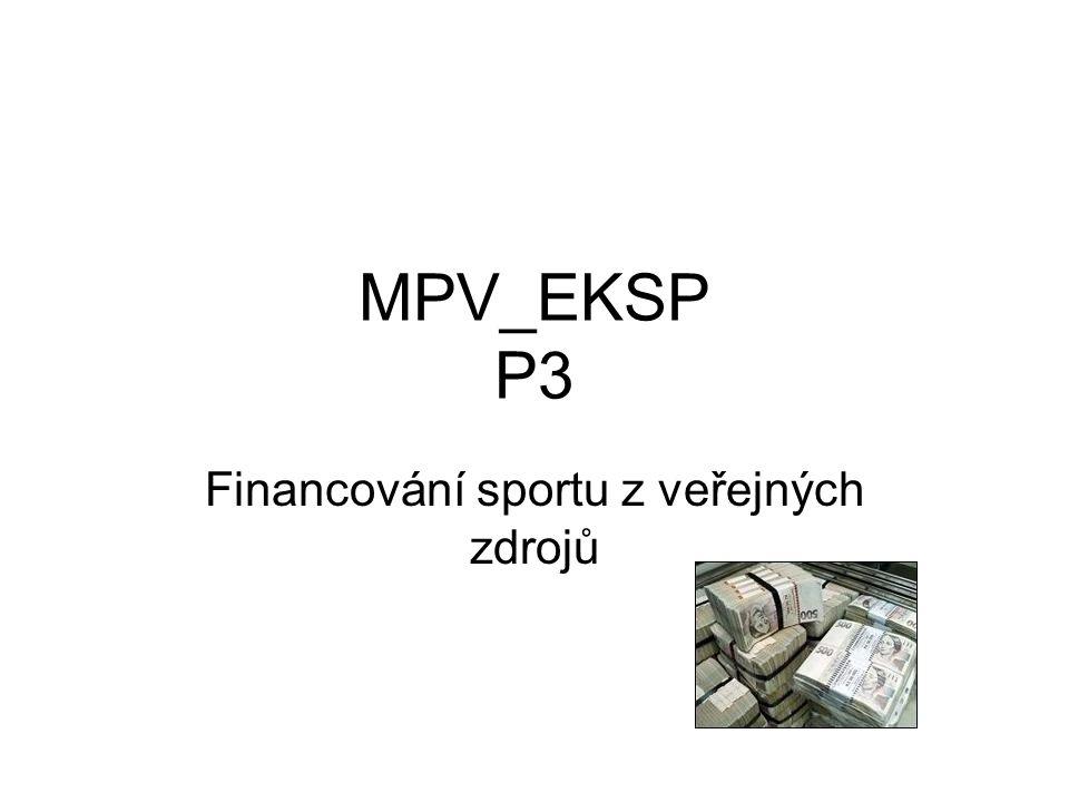 Financování sportu z veřejných zdrojů