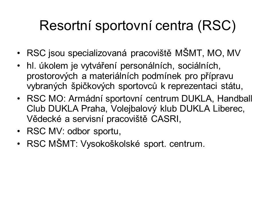 Resortní sportovní centra (RSC)