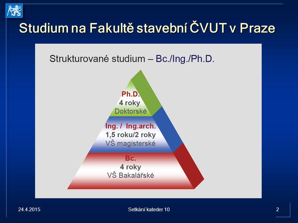 Studium na Fakultě stavební ČVUT v Praze