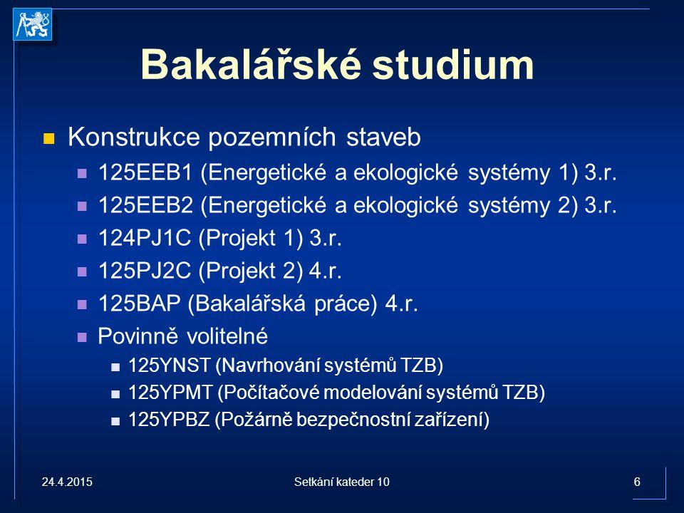 Bakalářské studium Konstrukce pozemních staveb
