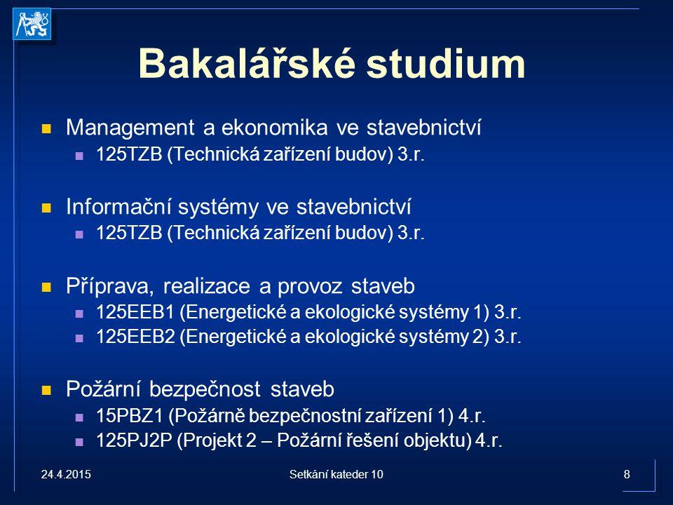 Bakalářské studium Management a ekonomika ve stavebnictví