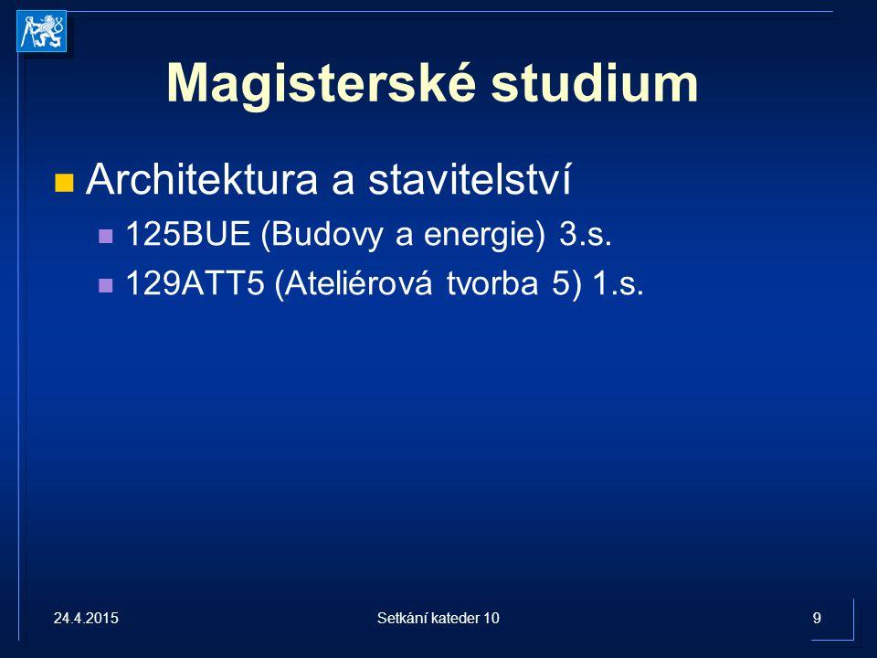 Magisterské studium Architektura a stavitelství
