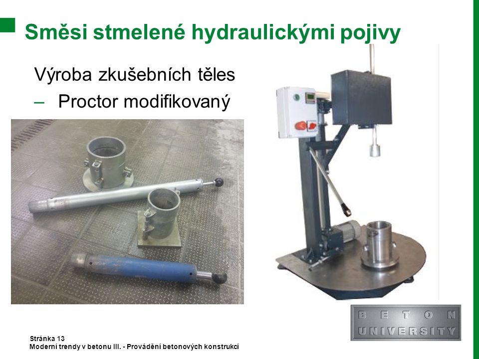 Směsi stmelené hydraulickými pojivy