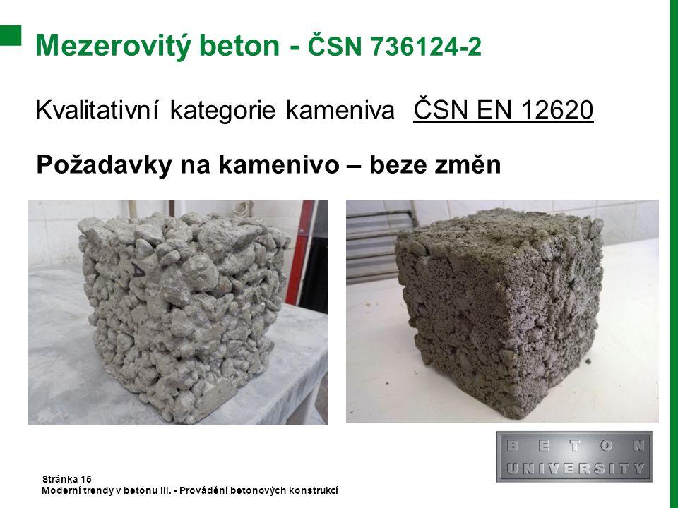 Mezerovitý beton - ČSN 736124-2