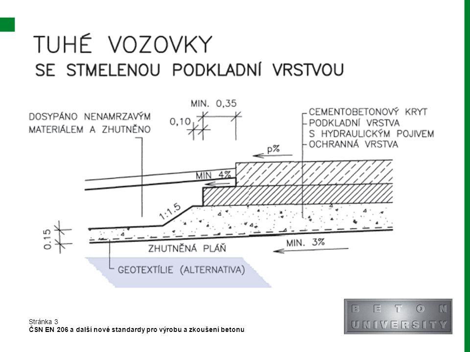 Konstrukce vozovky pozemních komunikací se skládá:
