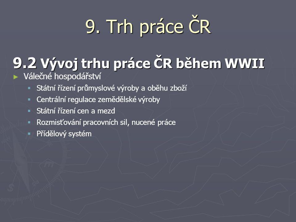 9. Trh práce ČR 9.2 Vývoj trhu práce ČR během WWII