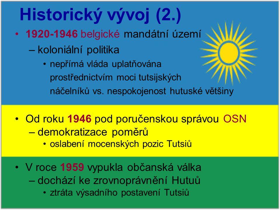 Historický vývoj (2.) 1920-1946 belgické mandátní území