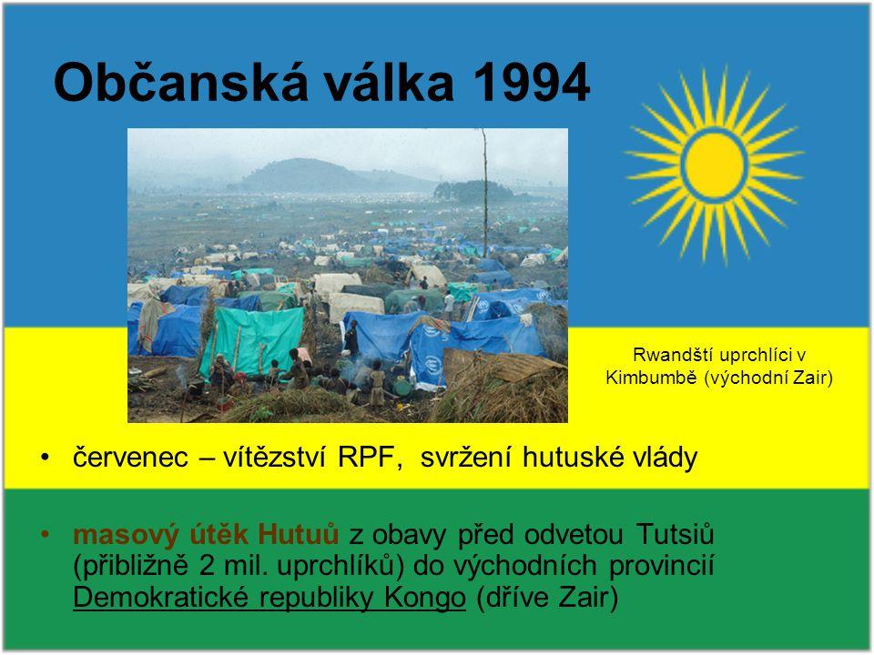 Rwandští uprchlíci v Kimbumbě (východní Zair)