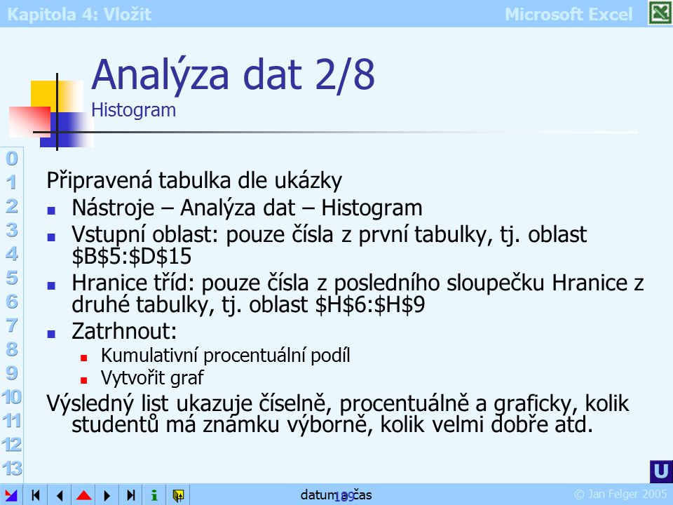 Analýza dat 2/8 Histogram
