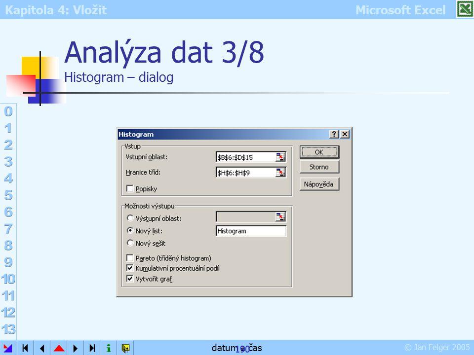 Analýza dat 3/8 Histogram – dialog