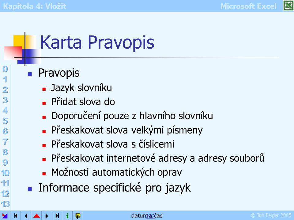 Karta Pravopis Pravopis Informace specifické pro jazyk Jazyk slovníku