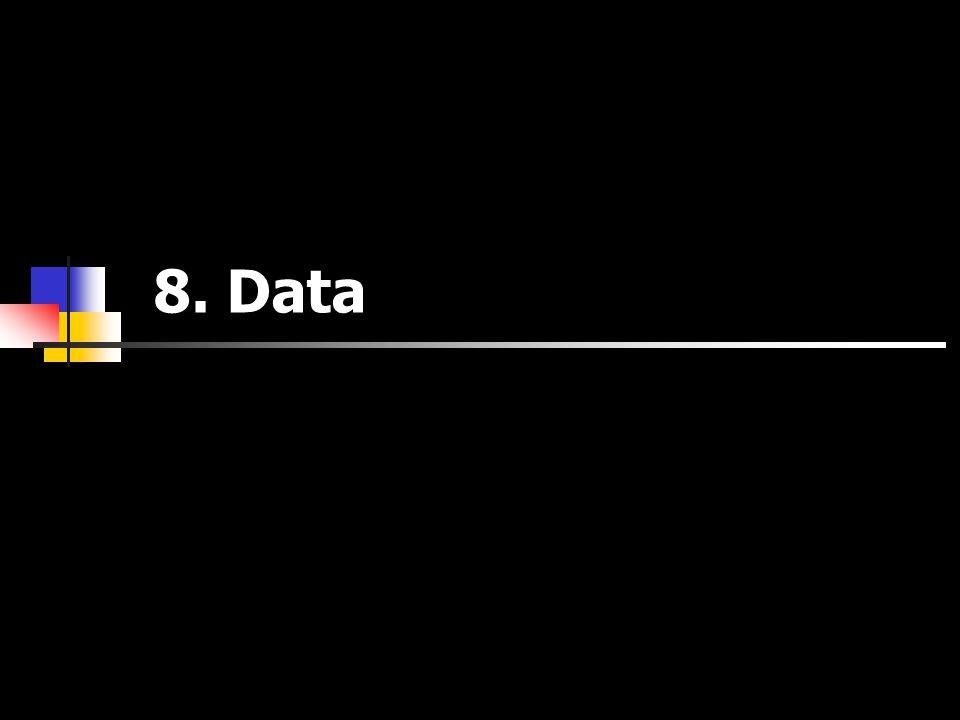 8. Data