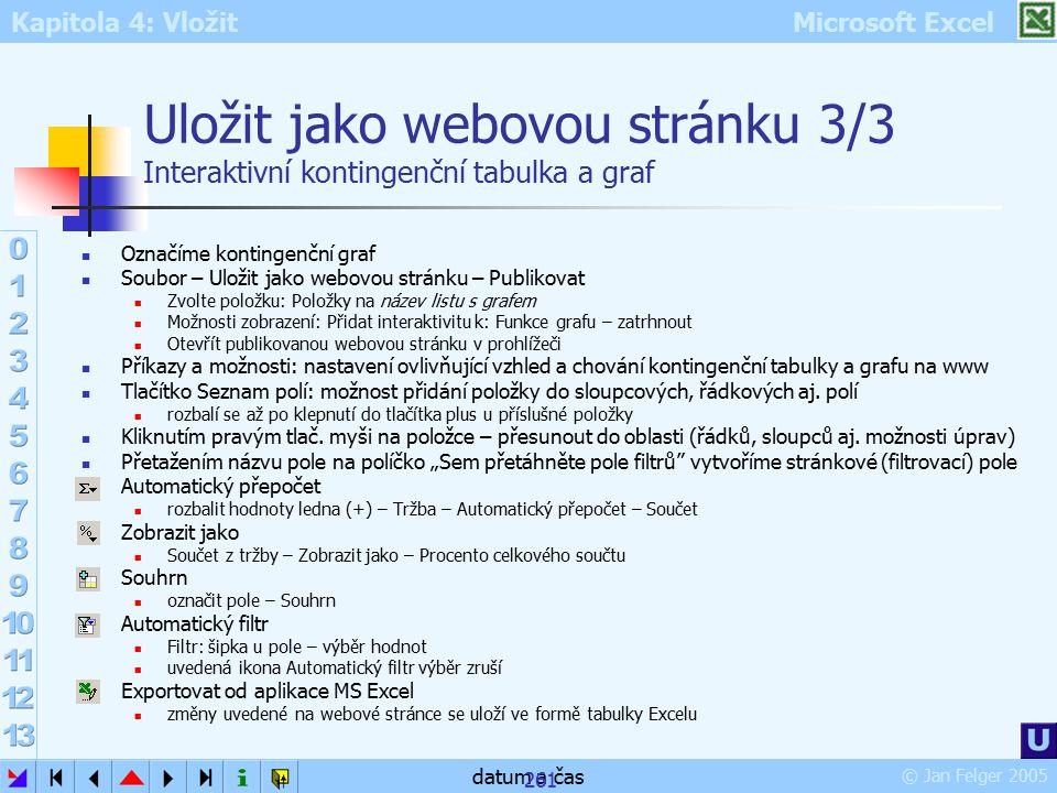 Uložit jako webovou stránku 3/3 Interaktivní kontingenční tabulka a graf